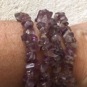 Jewelry - Amethyst Strand Bracelet Necklace